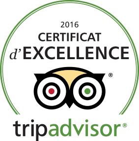 Titre d'Excellence 2016 - Tripadvisor